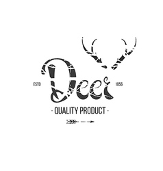 Label in hand draw style white vector image