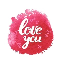 Lettering with phrase I love you vector