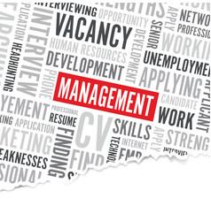 Management word background broken paper vector