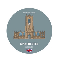 Manchester cathedral in manchester uk vector