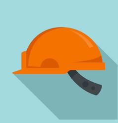 mine worker helmet icon flat style vector image