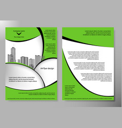 Minimal flyers report business magazine poster vector