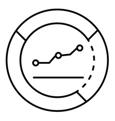 money graph info icon outline style vector image