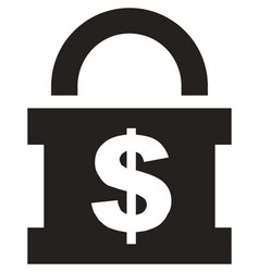 money lock icon vector image