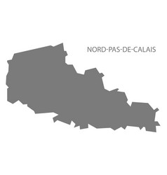 Nord-pas-de-calais france map grey vector