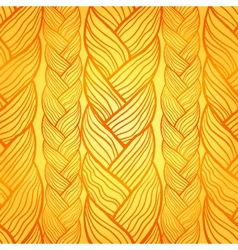 Orange abstract seamless hair pattern vector