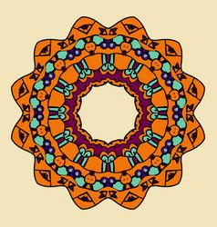 Ornamental mandala vintage vector