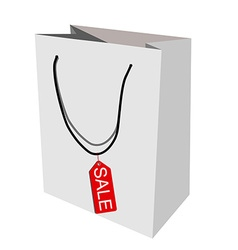 Paper bag sale vector image