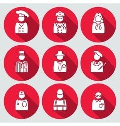 People profession avatar icon set Judge artist vector