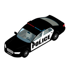 police car isometric view isolated on white vector image