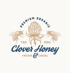 premium organic honey sign symbol or logo vector image