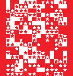 red and white stars vector image
