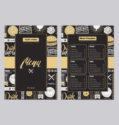 restaurant brochure vector image