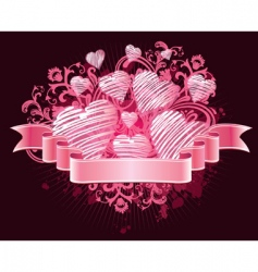 ribbon love vector image