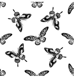 seamless pattern with black and white african vector image