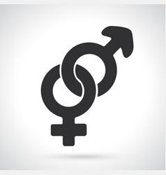 silhouette heterosexual gender symbol vector image