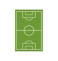 Soccer field camp isolated icon vector