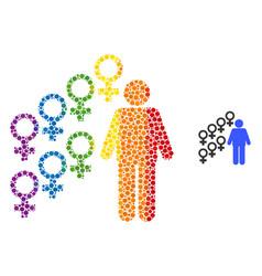 Spectrum harem symbol mosaic icon circles vector