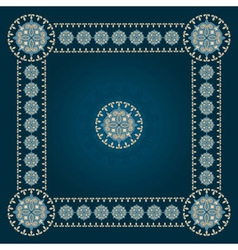 Square eastern pattern vector