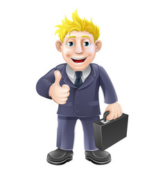 thumbs up businessman vector image
