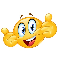 thumbs up emoticon vector image