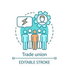 Trade union concept icon vector