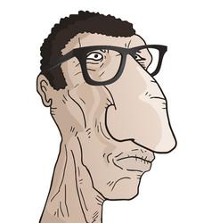 ugly man vector image