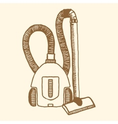 Vacuum cleaner Vintage style vector