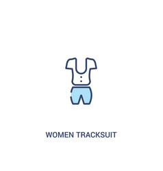 Women tracksuit concept 2 colored icon simple vector