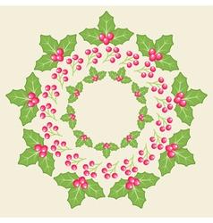 Amelia Christmas Whreath vector image vector image