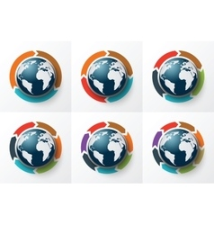 arrows around the Earth for infographic vector image