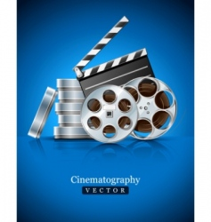 movie clapper vector image vector image