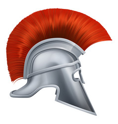 ancient greek warrior helmet vector image vector image