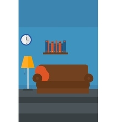 Background of furnished room vector image vector image