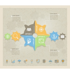 Business Concept Gears infographic vector image vector image