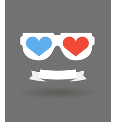 Love glasses vector image vector image