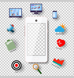 modern technology communication with the phone on vector image