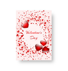 Rectangular notebook with scarlet hearts vector