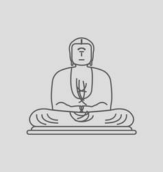 The Great Buddha vector image vector image