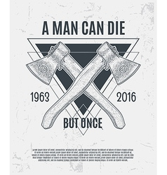 Two dotwork axes with modern street style vector image vector image