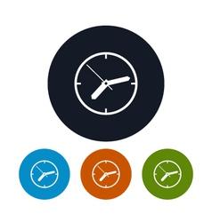 Watch icon wall clock icon vector image