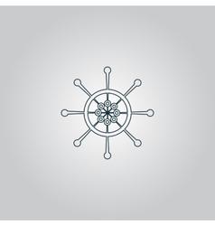 Yacht wheel symbol Helm silhouette vector image vector image