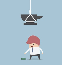 Businessman and money trap vector image vector image