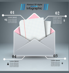 mail letter paper - business infographic vector image vector image