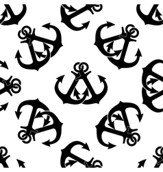 Marine crossed anchors seamless pattern vector image vector image