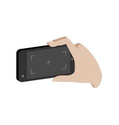 taking photo on smartphone symbol flat isometric vector image