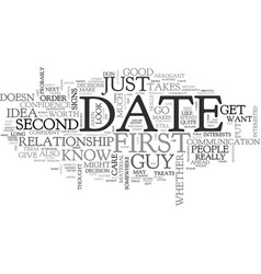 when a first date should be the last date tips to vector image