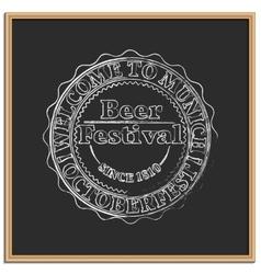 Emblem Oktoberfest vector image