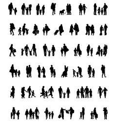 walking families vector image vector image