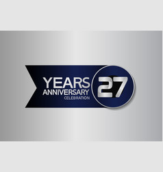 27 years anniversary logo style with circle vector